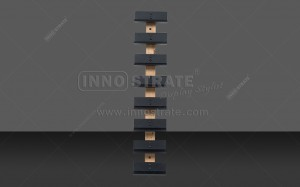 Bottom price Black Wine Display Rack For Bar -