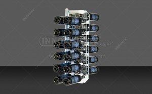 RD005  Series 24 Bottle Wall Mounted Wine Rack