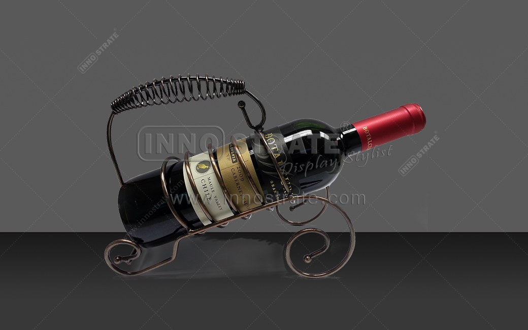 Newly Arrival Wine Bottle Bamboo Display -