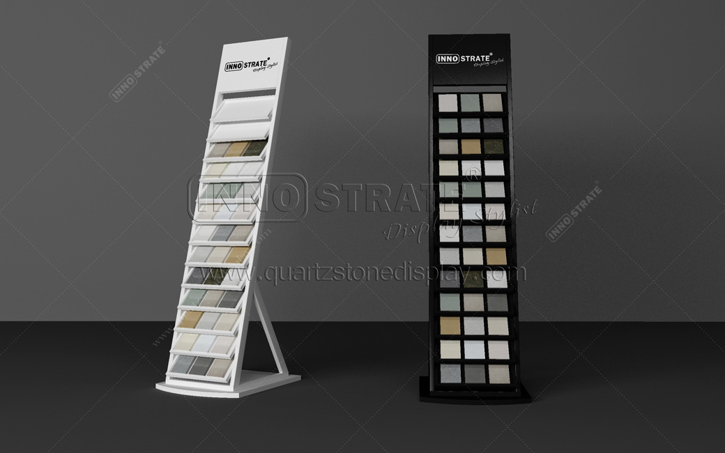 New Fashion Design for Merchandising Heavy Duty Free Stand 3-row Ceramic Tile Stone Slab Lays Flooring Display Rack Featured Image