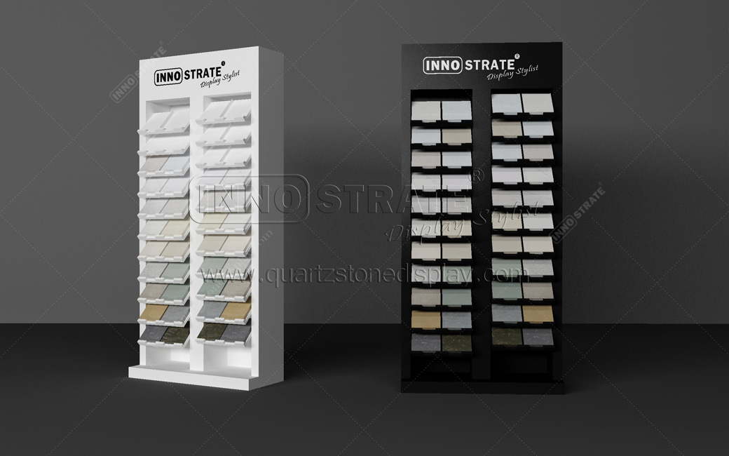 ODM Manufacturer Stone Tile Slab Display Racks Sliding Granite Marble Display Stands Featured Image