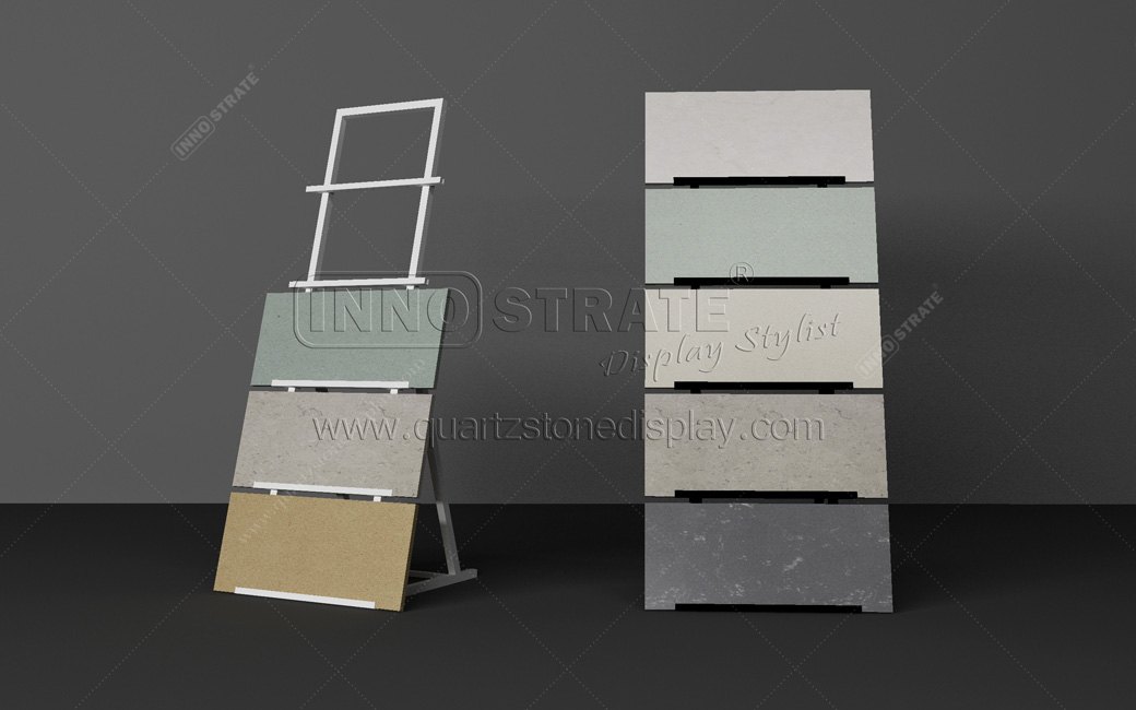 Factory Free sample Display Shelves For Retail Stores - QD027 Quartz Stone Display Rack – INNOSTRATE