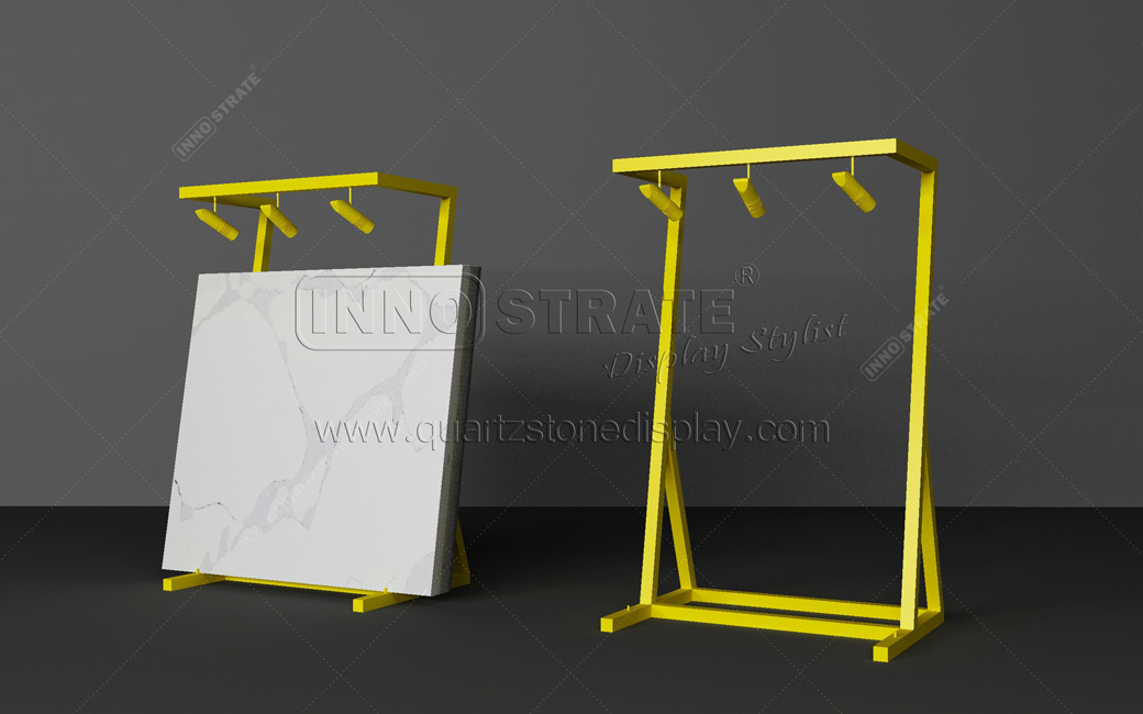 Top Grade Laminated Floor Stone Tile Display Rack Stand