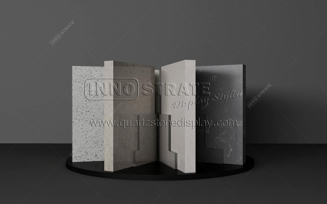 QT009 Stone Table Display Rack Featured Image
