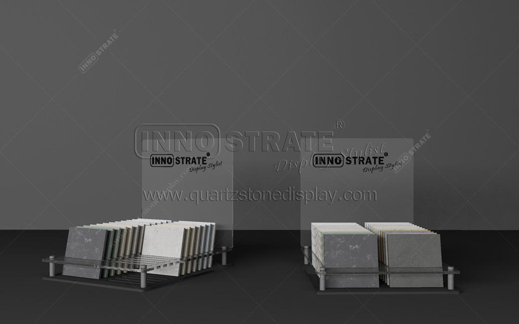 Manufactur standard Quartz Stone Stands Tile Display Panels Marble Display Stands Granite Tile Ceramics Tiles Black Display Stand Rack