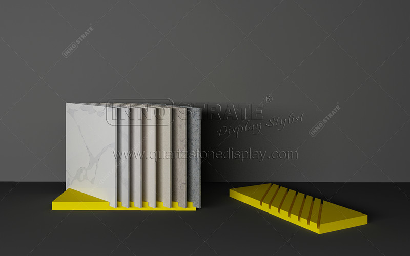 2019 China New Design Adjustable Shelving Display Furniture - TC005 Quartz Sample Display Rack – INNOSTRATE Featured Image