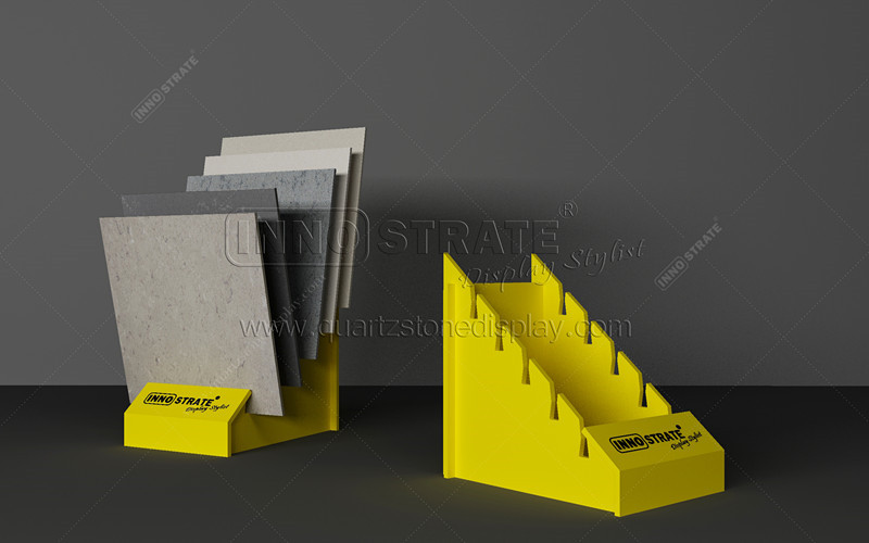 China Gold Supplier for Metal Ceramic Tile Sample Board Display Rack With Square Tube