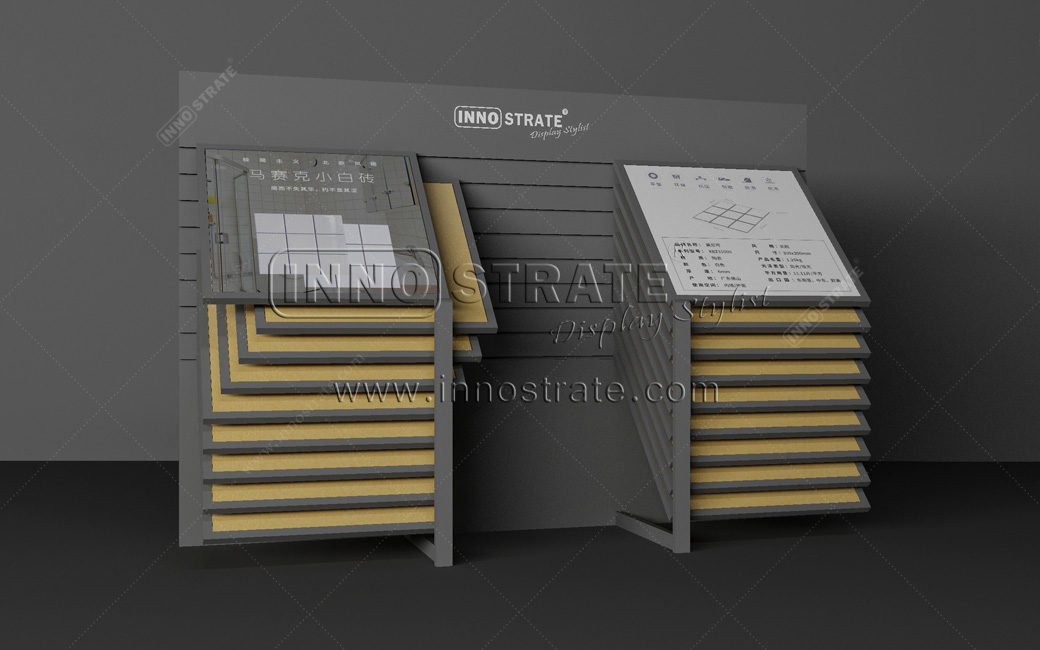 High Performance Customized Quartz Metal Granite Stone Tile Display Rack Featured Image