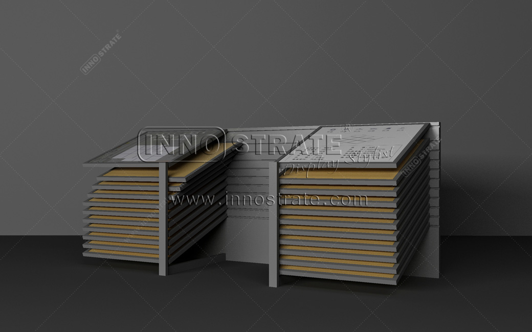 OEM China Metal Granite Marble Slab Sample Quartz Stone Rack Tile Display Stand