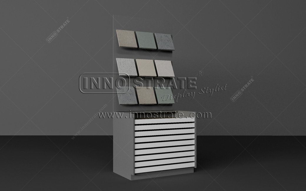 OEM Manufacturer Stone Granite Tile Sample Display Stand Rack