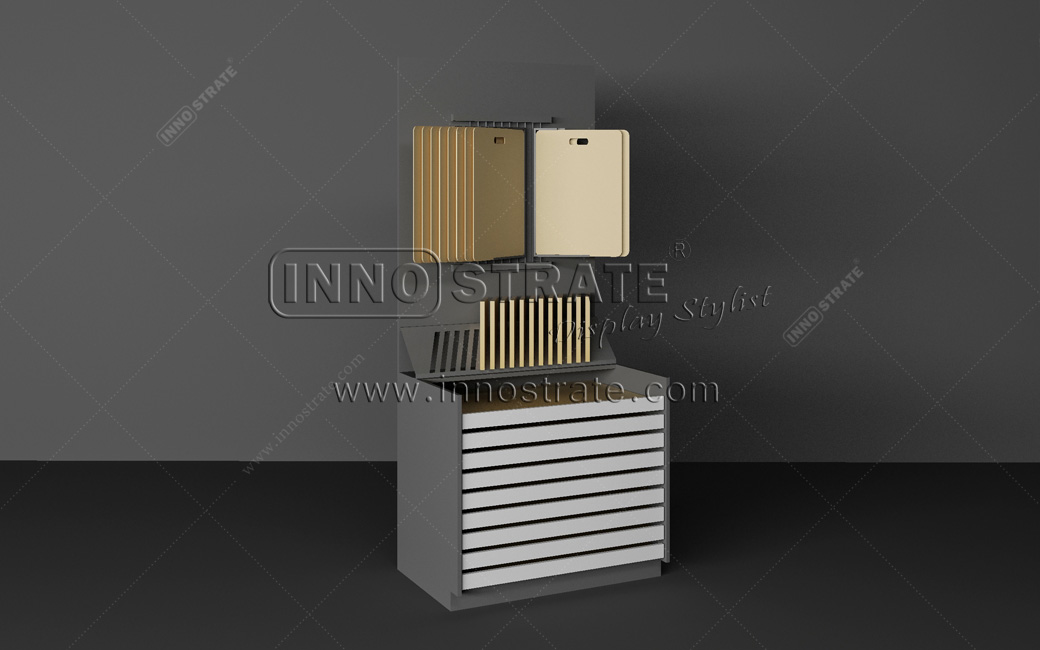 Popular Design for Slab Stone Exhibition Display Cabinets - TO010 Stone Granite Display Rack – INNOSTRATE